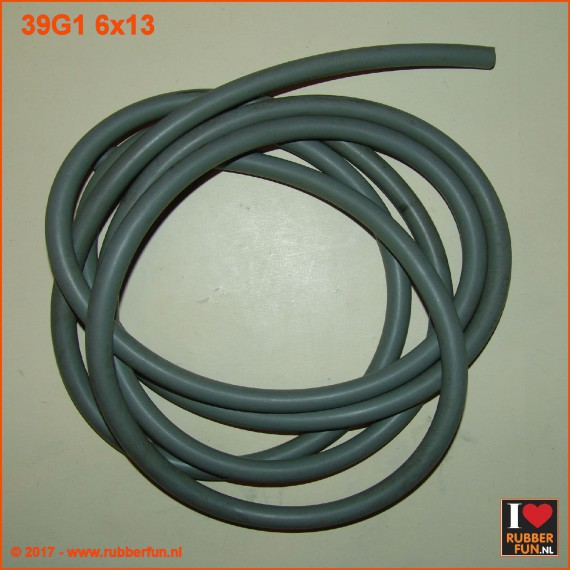 Rubber tubing - grey