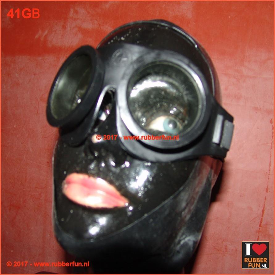 Black rubber goggles
