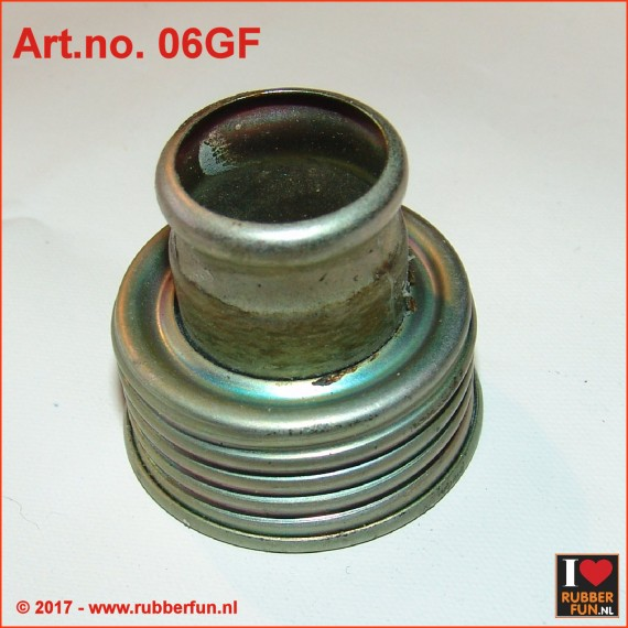 Gas mask hose connector - female