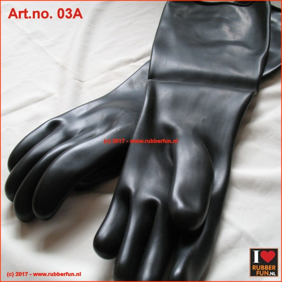 Rubber gloves - heavy duty - 44 cm