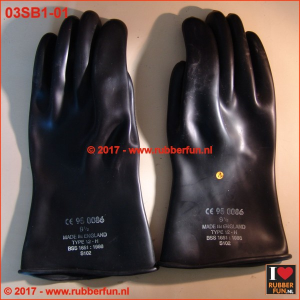 Rubber gloves - SALE - series 1 - black - 15 to 38 cm - 01