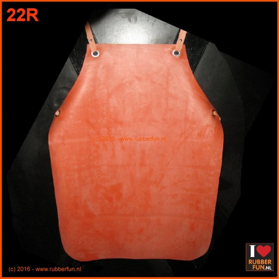 Rubber apron - clinical red - normal & heavy duty