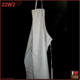 Rubber apron - white - 115x85 cm