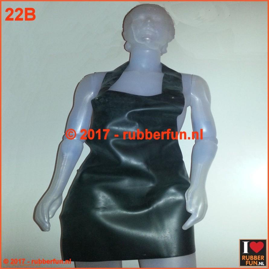 Rubber apron - black