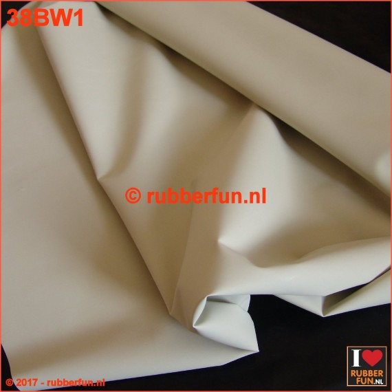 Rubber sheeting - Indian rubber - white - 90 cm wide - 0.30-0.40 mm thick