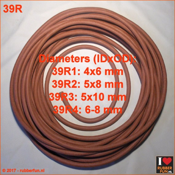 39R - Rubber tube - red