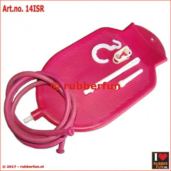 Enema bag set - red