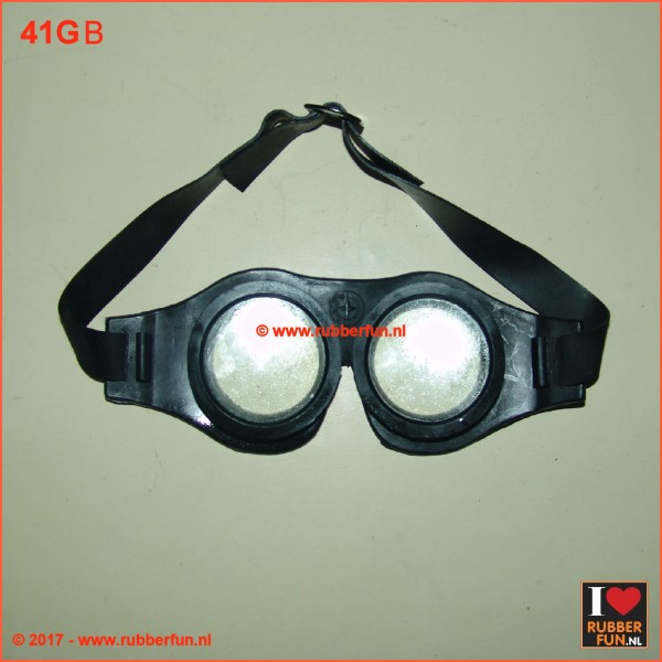 Black rubber goggles