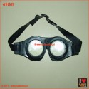 Rubber safety goggles - black