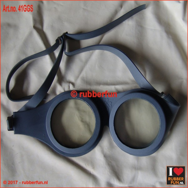 41GGS - rubber safety goggles - grey