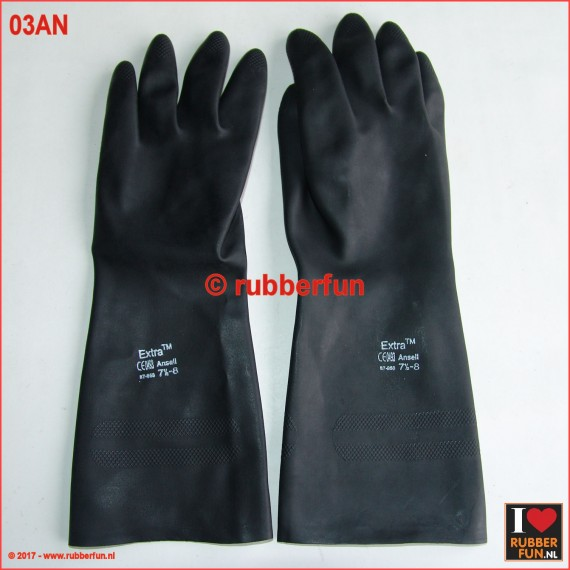 03AN - rubber gloves - light duty - sanitized