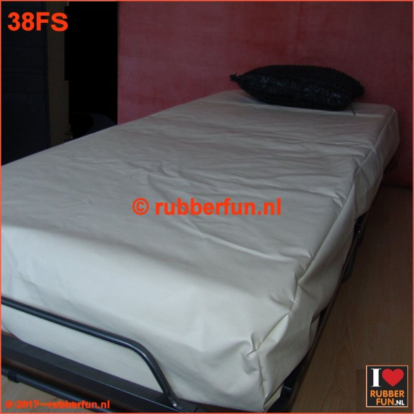Rubber bed set - fitted sheet plus pillow case