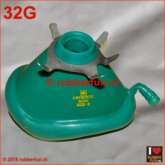 Anesthesia mask - medical green