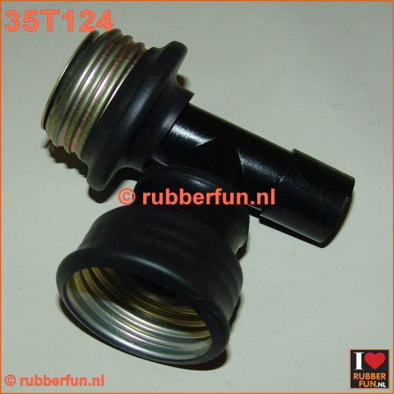 35T124 - T-connector gas mask - medical. Gas mask F - gas mask M - medical 22M
