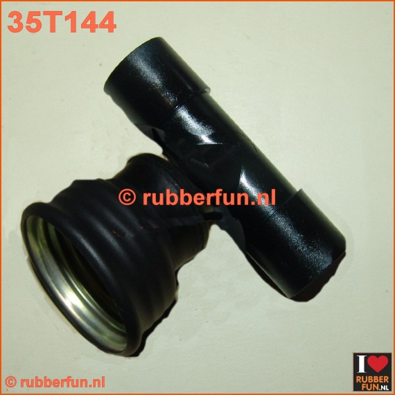 35T144 - T-connector gas mask to medical. Female - medical 22M (2x)