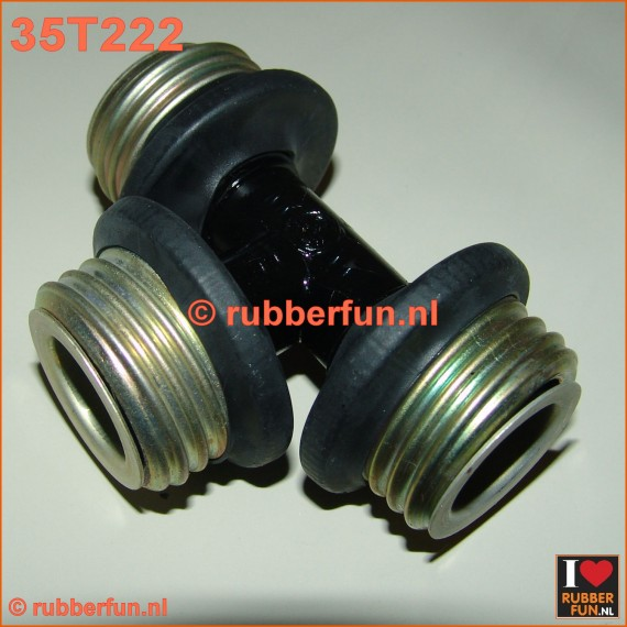35T222 - T-connector gas mask - gas mask hoses, male-male-male