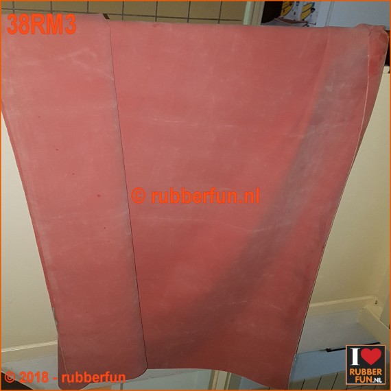 38RM3 - Rubber sheeting - hospital red - 90 or 120 cm wide - 0.50 mm thick. [NEW 2018]
