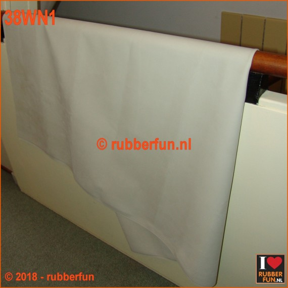 Rubber sheeting - white - natural rubber - 90 and 120 cm wide - 0.50 mm thick