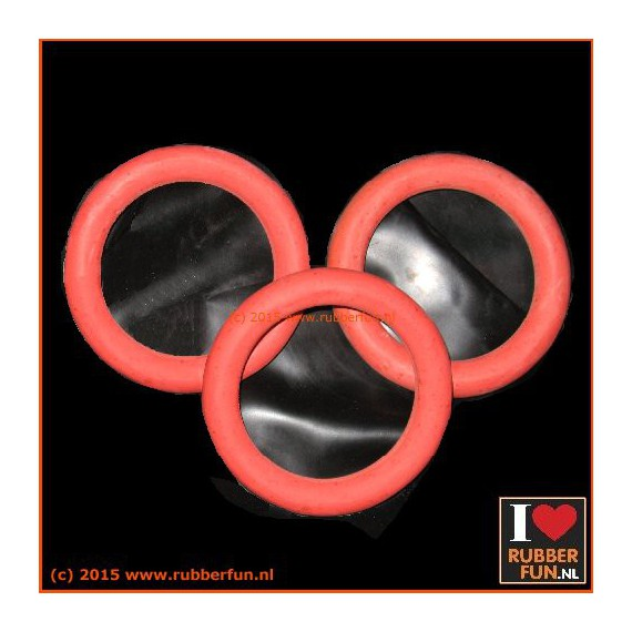 Rubber Ring - Pessarie - clinical red - XS-XL - set of 3
