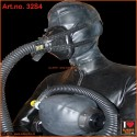 Anesthesia mask - set 4 (mask, straps, air hose and ambu bag)