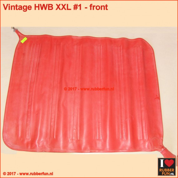 Hot water bottle XXXL - vintage red rubber