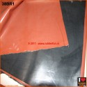 Rubber sheeting - black and clinical red - 85 cm wide - 0.48 mm thick