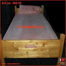 Rubber bed set 1B - bottom sheet plus pillow case