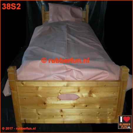 Rubber bed set 2B - duvet cover, bottom sheet plus pillow case