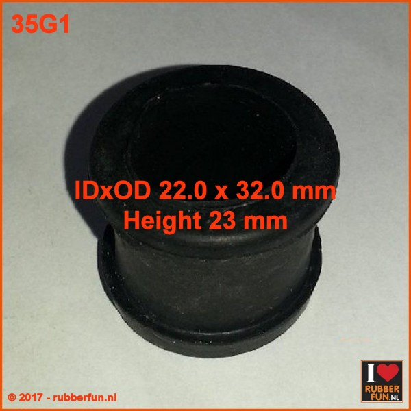 Rubber ring 22x32 mm IDxOD, 23 mm height
