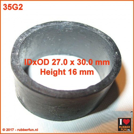 Rubber ring 27x30 mm IDxOD, 16 mm height