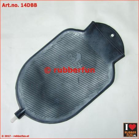 Enema bag - rubber - 1.5L - black & red