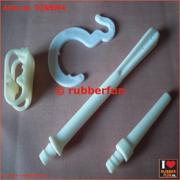 02NSW4 - Nozzle set - 4 pieces - white