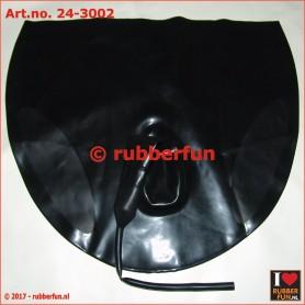Flushing pants with sheath - black