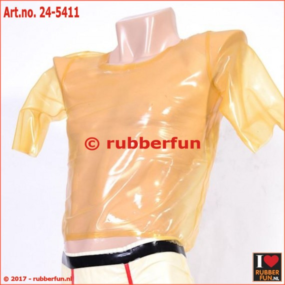 24-5411 Latex T-shirt - transparent, black, white & red