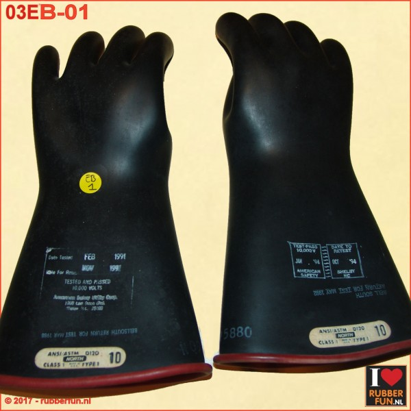 03EB-01 SALE - Rubber gloves - electrical