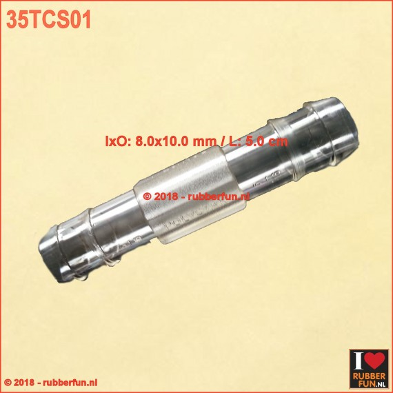 35TCS01 - Tube connector - straight - 8.0 x 10.0 mm - L 5.0 cm