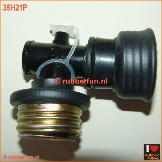 35H21P - Hook connector male gas mask to female gas mask, with air plug