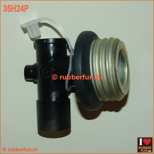 35H24P - Hook connector male gas mask to medical hose, with air plug