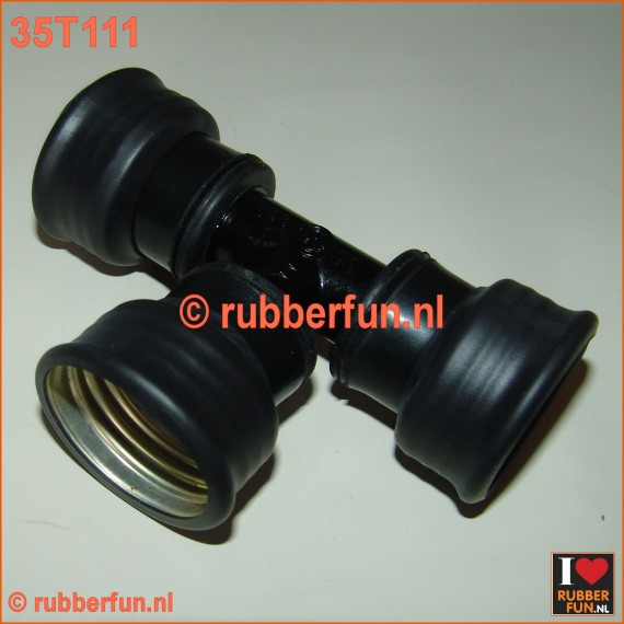 35T111 - T-connector gas mask - gas mask hoses, female-female-female