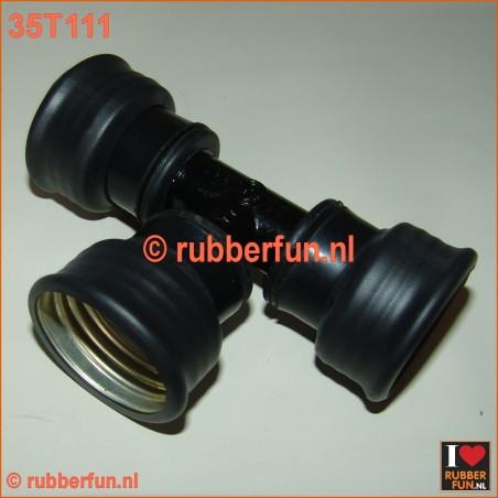 T-connector gas mask - gas mask hoses, female-female-female