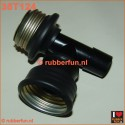 T-connector gas mask - medical. Gas mask F - gas mask M - medical 22M