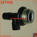 T- connector gas mask to medical hose or mask