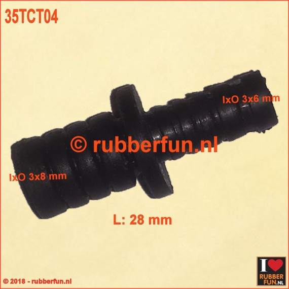 T connector Connector for gas mask and rebreathing bag T211