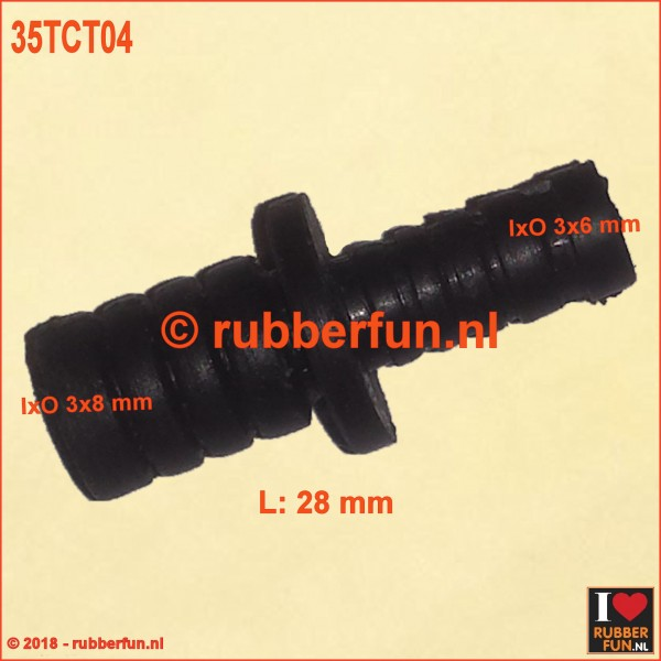35TCT04 - Adapter - barbed (3x6 to 3x8 mm)
