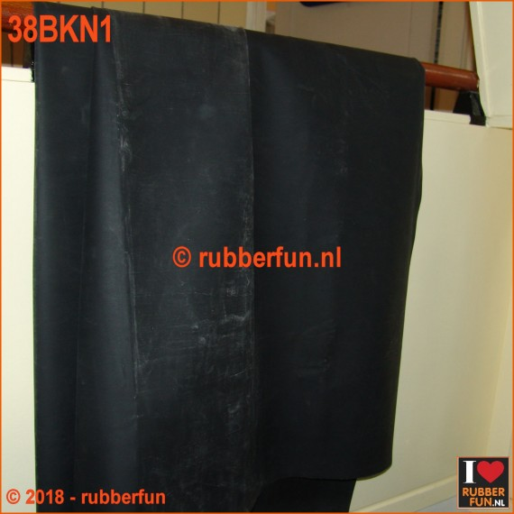 Rubber sheeting - black - natural rubber - 90 and 120 cm wide - 0.50 mm thick.