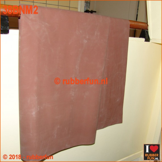 38BKM2 - Rubber sheeting - brown - mackintosh rubber - 90 and 120 cm wide - 0.50 mm thick.