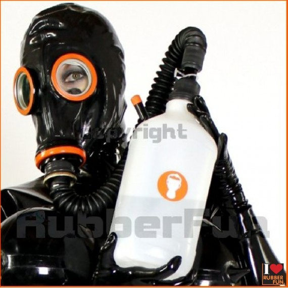 Gas mask inhalator set