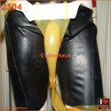 Urinal collector set - coverall with leg bag - semi clear latex