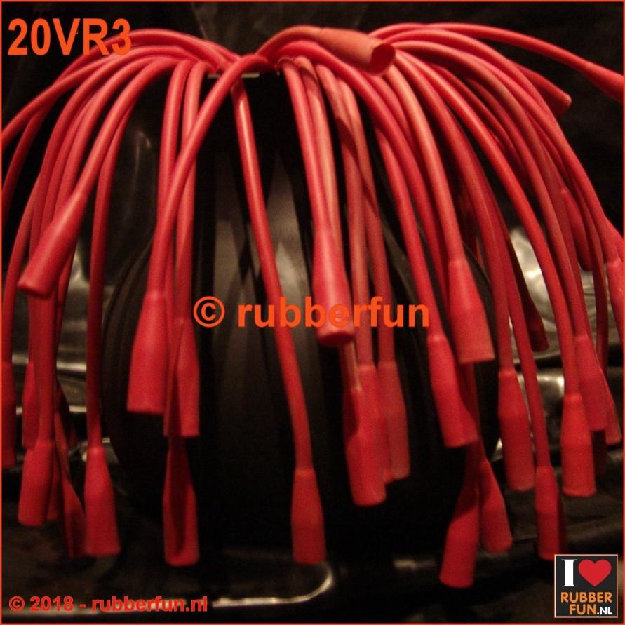 20VR3 - Enema tube - vintage - red rubber - FG16 - 41.5 cm