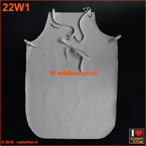 22W1 - Rubber apron - white
